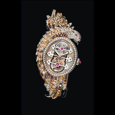 Girard Perregaux & Boucheron Ladyhawke Tourbillon Watch - Price: $ 610,000.00 USD. #luxury tourbillon watch, ladyhawk tourbillon, girard perregaux, men accesori, luxuri watch