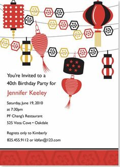Chinese Birthday - invitation