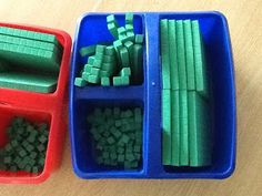 Math Manipulative storage- I have seen these buckets at Target in the $1 section!