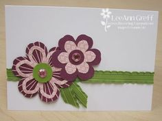 Easy card for thank you's. Could change to make bottom half embossed