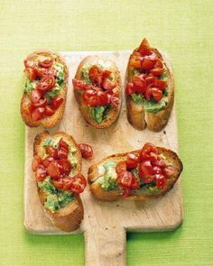 Tomato-Avocado Toasts Recipe