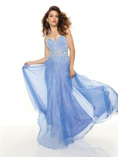 Periwinkle Dress with Sparkly Bodice