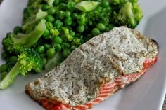 Salmon with crusted dill