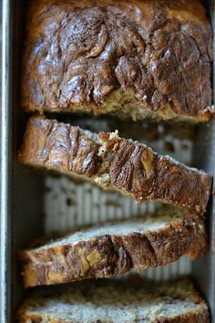 Chocolate Hazelnut Swirled Banana Bread