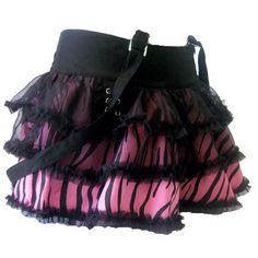 Living Dead Souls Zebra Strap Skirt | Gothic Clothing | Emo clothing |... ($23) ❤ liked on Polyvore
