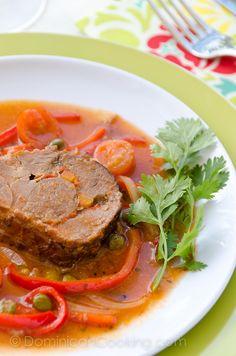 Carne Mechada (Braised beef roll)