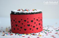 Valentine's Day Mini Cake with Paper Heart Liner from Crafts Unleashed