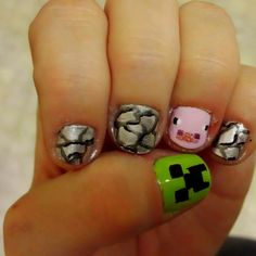 Mine craft nails for Bella