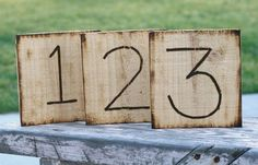 Rustic Table Numbers Country Wedding Barn Farm Outdoor Garden Shabby Chic Wedding Decor