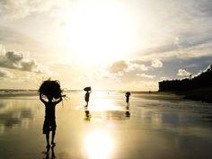 we 3.  Bakkhali Beach, West Bengal, India.