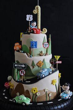 Rotating Car Cake
