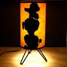 Black Velvet Poodle Lamp with Rhinestone by moonbootprinting, $150.00