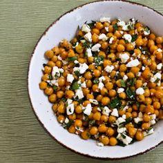 Garlic Roasted Chickpeas Salad