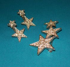 Fabulous Vintage Pave Star Brooch & Earring Set for by baublology. I inherited this '70s brooch from my mom, but want the earrings!