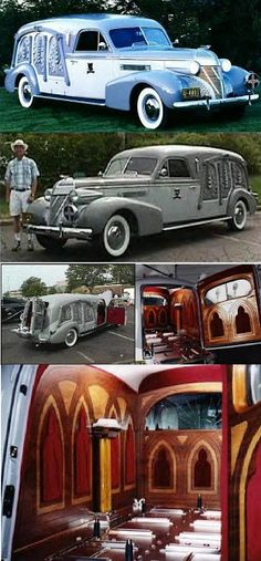 1939 Cadillac Carved Panel Hearse