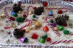 Preschool Christmas Activities {Festive Sensory Tub} for Kids - Kids Activities Blog @Carrie Lindsey Biondi kid activities, christma activ, activities for kids, christmas activities preschool, sensory tub, christma sensori, preschool december, happy holidays, preschool christmas activities