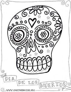 Dia de los Muertos coloring sheet