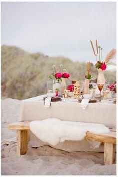desert wedding, summer picnic, color, company picnic, beach party