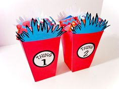 Dr Seuss Thing 1 and 2 Boxes