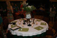 golf tabl, event idea, nathan parti, sport banquet, tenni banquet