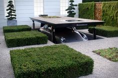 car storage, cardok, parks, car ports, dream garage, outdoor spaces, car garage, batmobile, garden