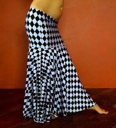 Tribal Fusion Bellydance Mermaid Skirt LARGE by MedinaMaitreya - for when I want to do something Alice in Wonderland inspired...