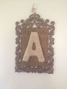 Personalized Wooden Letter Sign by SeaToLandDesigns on Etsy, $10.00