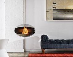 Smokeless hanging fireplace