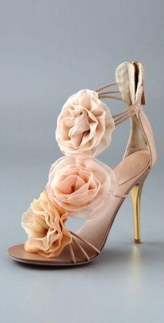 Giuseppe Zanotti Chiffon Rosette Sandals