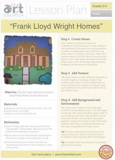 Frank Lloyd Wright Homes: Free Lesson Plan Download