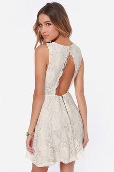 Antique Cream Lace Dress