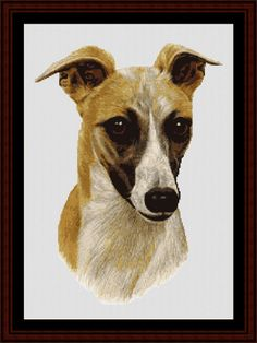 Whippet - Cross Stitch Collectibles fine art counted cross stitch pattern