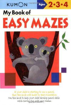 My Book of Easy Mazes (Kumon Workbooks) by Shinobu Akaishi http://www.amazon.com/dp/1933241241/ref=cm_sw_r_pi_dp_tpYStb1WQG2CE7AC