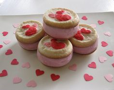 Valentines ice cream sandwiches