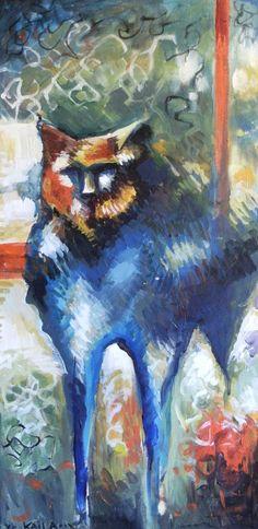 M'ecm'ecl'i Wac'aak (Blue Dog in Klamath Indian language) by kailarose82, Kaila Farrell-Smith (Klamath, Modoc) on Etsy