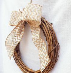 Burlap Pew Bows Or Pew Wreaths Featuring by ButterBeanVintage