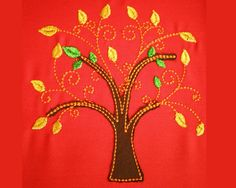 Tree Of Life 4 machine embroidery design digitized file - multiple sizes for hoop 4x4, 5x7 and 6x10