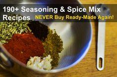190+ Seasoning & Spice Mix Recipes & Blends