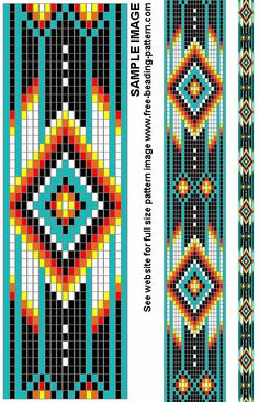 Belt bead pattern for Native American Regalia