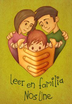 Leer en familia nos une spanish books for kids, en familia, lectura, librari, spanish quotes, children books, spanish children, learning spanish, leer en
