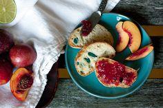 plum nectarine and chile jam