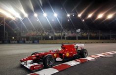 Felipe Massa; Scuderia Ferrari; Practice Session 3; Marina Bay Street Circuit in Singapore, 25 September 2010.