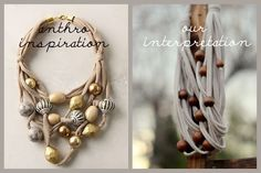 WHITE anthro inspired necklace