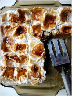 Sugar Plum: Sweet Potato Bread Pudding with Toasted Marshmallows
