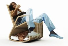 rocking chair + doghouse