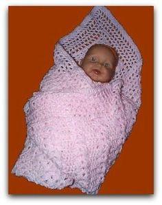 Unusual free crochet baby blanket. very easy for beginners