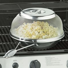Grill Popcorn Popper ($36): You can pop popcorn on a stovetop, so why not on a grill?