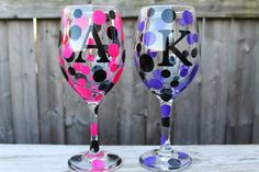 Personalized Wine Glasses for Bridal Parties Birthday by ahindle78, $10.00