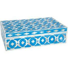 Mother of Pearl Inlay Box - Blue