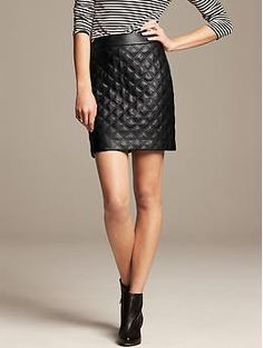 Quilted Faux-Leather Mini